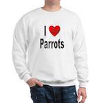 I Love Parrots (Front) Sweatshirt