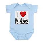 I Love Parakeets Infant Creeper