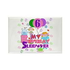 6th Sleepover Birthday Rectangle Magnet