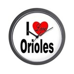 I Love Orioles Wall Clock