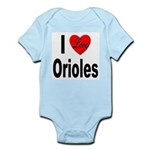 I Love Orioles Infant Creeper