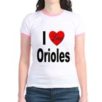 I Love Orioles (Front) Jr. Ringer T-Shirt