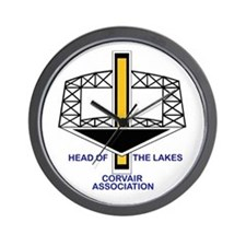 Head of the Lakes Corvair Asc Wall Clock