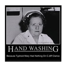 Infection Control Humor 02 Tile Coaster