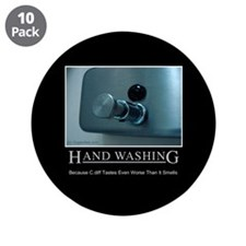 """Infection Control Humor 01 3.5"""" Button (10 pack)"""