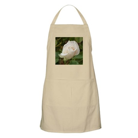 Pale Pink Rose BBQ Apron