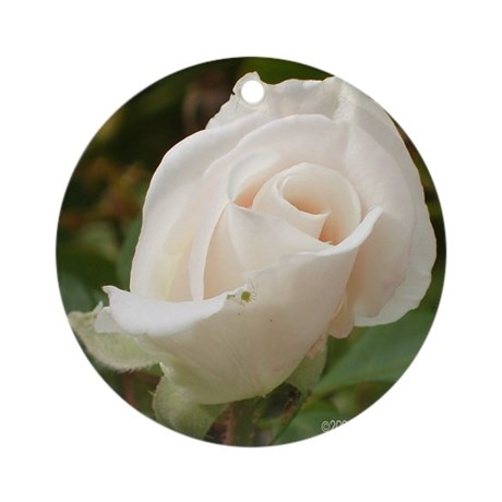Pale Pink Rose Ornament (Round)
