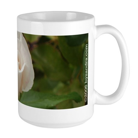 Pale Pink Rose Large Mug