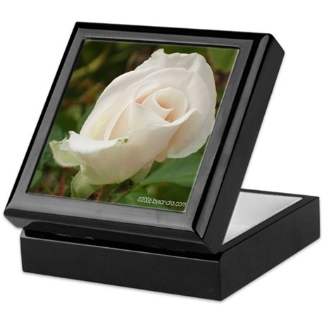 Pale Pink Rose Keepsake Box