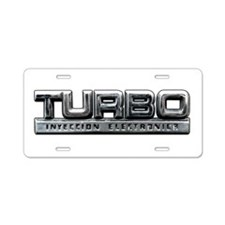 Turbo Aluminum License Plate