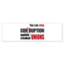 SUPPORT RIGHT TO WORK Bumper Sticker