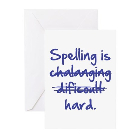 Spelling Is Hard Greeting Cards (Pk of 20)