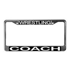 Wrestling Coach License Plate Frame