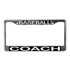 Baseball Coach License Plate Frame