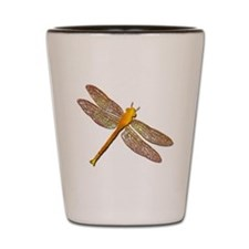 Golden Dragonfly Shot Glass