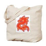 Tattoo Ink: Red Dragon Tote Bag