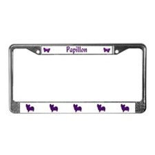 Papillon Shape License Plate Frame