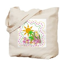 Flip Flops Tropical Tote Bag