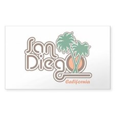 San Diego California Rectangle Decal