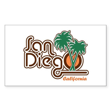 San Diego California Rectangle Sticker