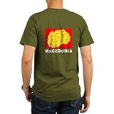T-Shirt Macedonia Map Star