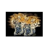 Tiger Love Rectangle Magnet