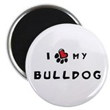 "I *heart* My Bulldog 2.25"" Magnet (10 pack)"