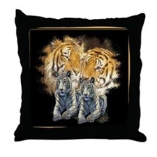 Tiger Love Throw Pillow