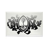 Guam Graffiti Rectangle Magnet (100 pack)