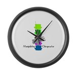 Chiropractor Large Wall Clock