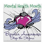 Mental Health Month BASTS Tile Coaster