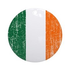 Vintage Irish Flag Ornament (Round)