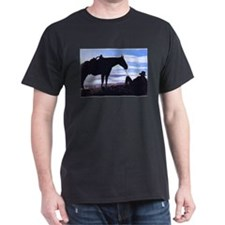 Cowboy Sunset Black T-Shirt