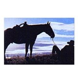 Cowboy Sunset Postcards (Package of 8)