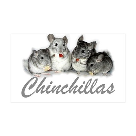 38.5 x 24.5 Chinchillas Wall Peel