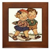 Kids Walking Framed Tile
