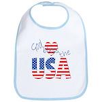 God Bless the USA Bib