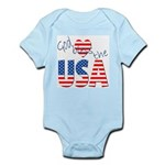 God Bless the USA Infant Creeper