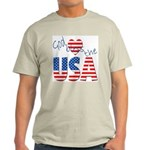 God Bless the USA Ash Grey T-Shirt