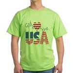 God Bless the USA Green T-Shirt