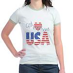 God Bless the USA Jr. Ringer T-Shirt
