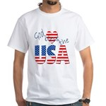 God Bless the USA White T-Shirt
