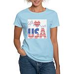 God Bless the USA Women's Pink T-Shirt