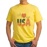 God Bless the USA Yellow T-Shirt