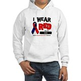 I wear red for my son Hoodie Sweatshirt