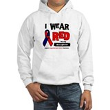 I wear red for my daughter Hoodie Sweatshirt
