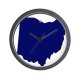 Ohio - Blue Wall Clock