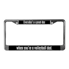 Volleyball Dad License Plate Frame