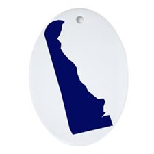 Delaware - Blue Ornament (Oval)