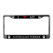 Black I Love My Australian Terrier Frame